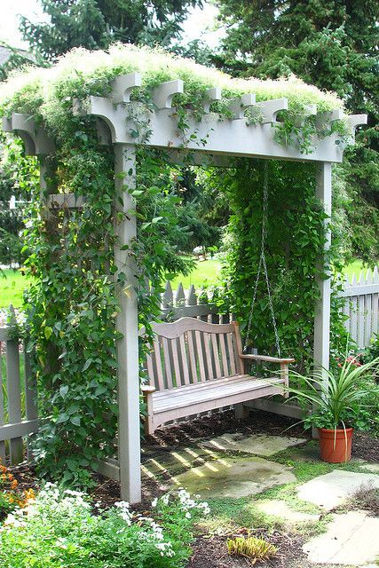 garden swing ideas 16