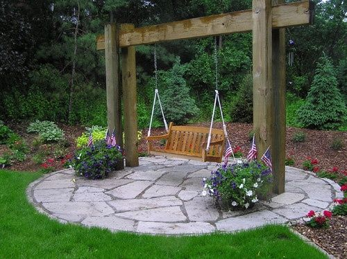 garden swing ideas 20