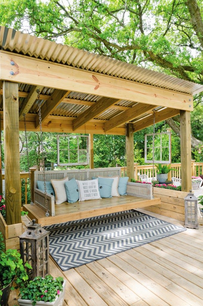garden swing ideas 5
