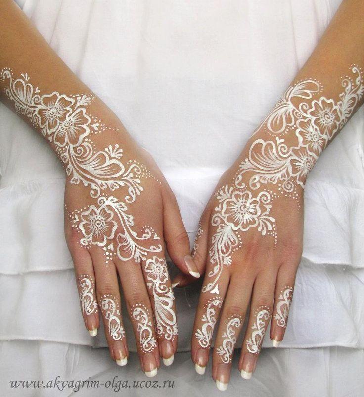 white henna designs 10