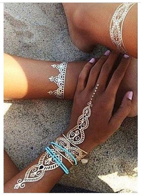 white henna designs 11