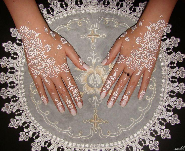 white henna designs 19