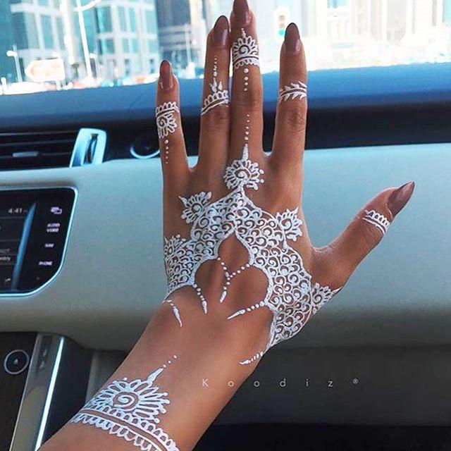 white henna designs 6