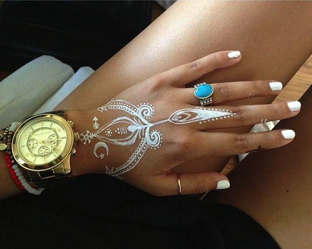 white henna designs 9