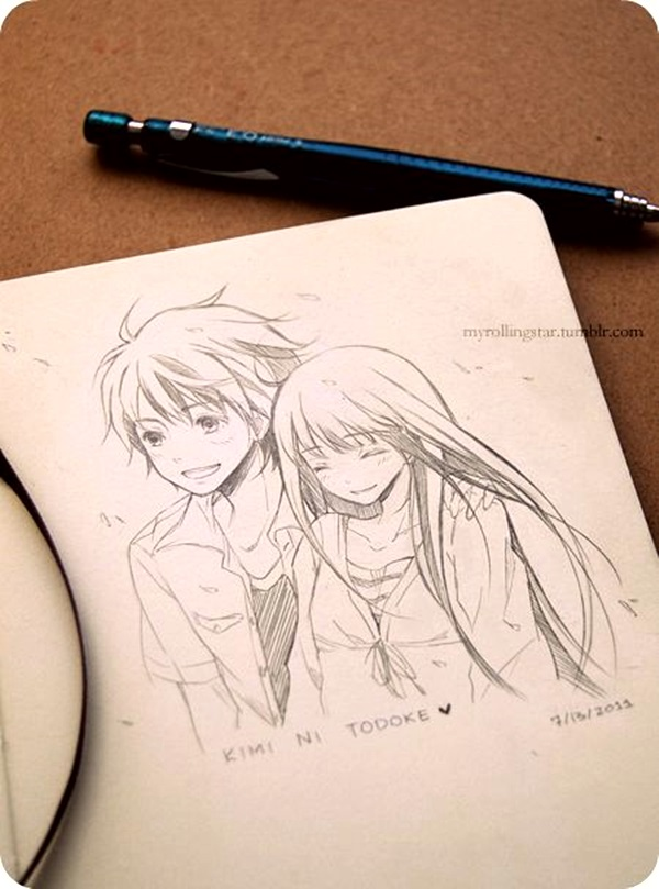 Amazing Anime Drawings And Manga Faces (12)