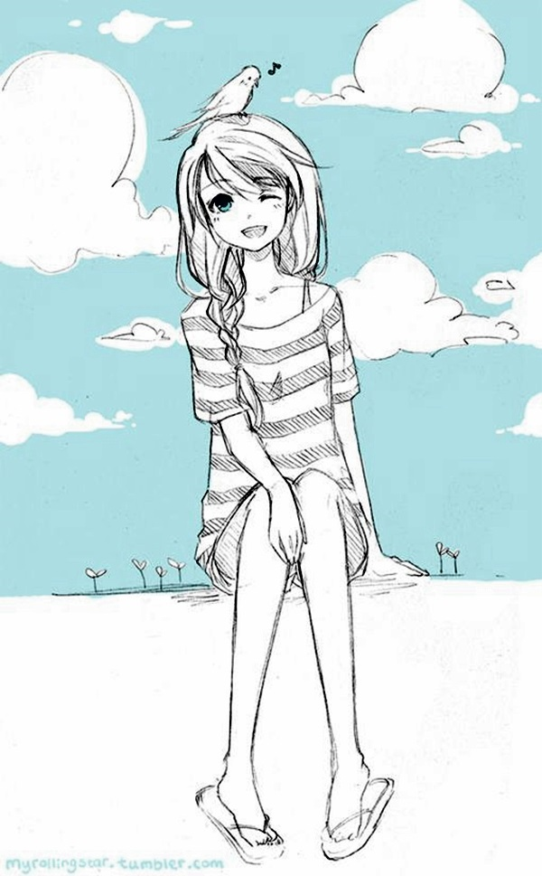 Amazing Anime Drawings And Manga Faces (29)
