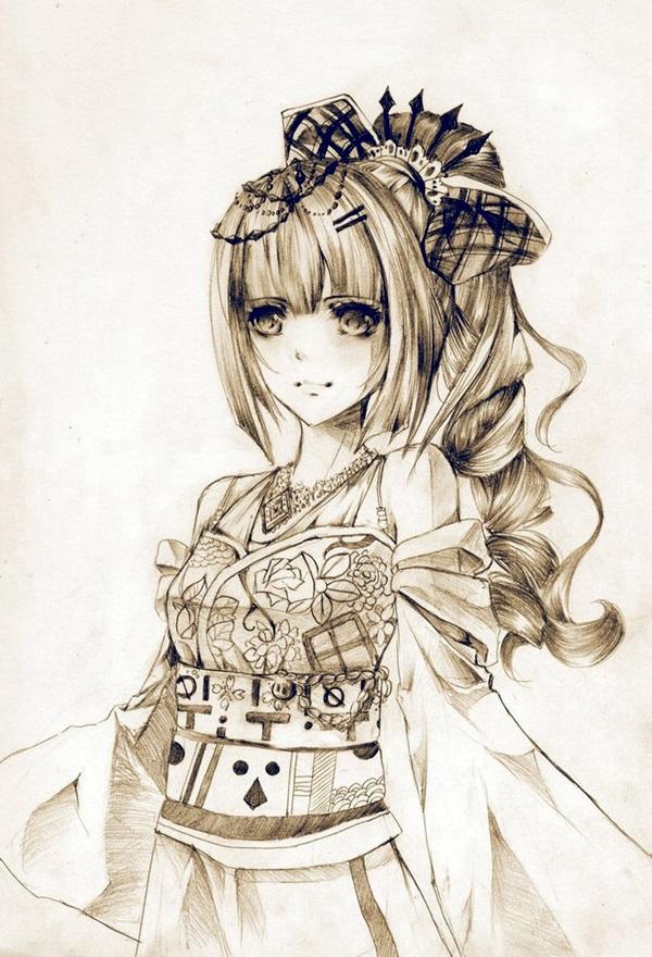 Amazing Anime Drawings And Manga Faces (36)
