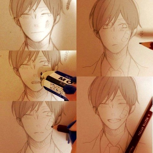 Amazing Anime Drawings And Manga Faces (4)