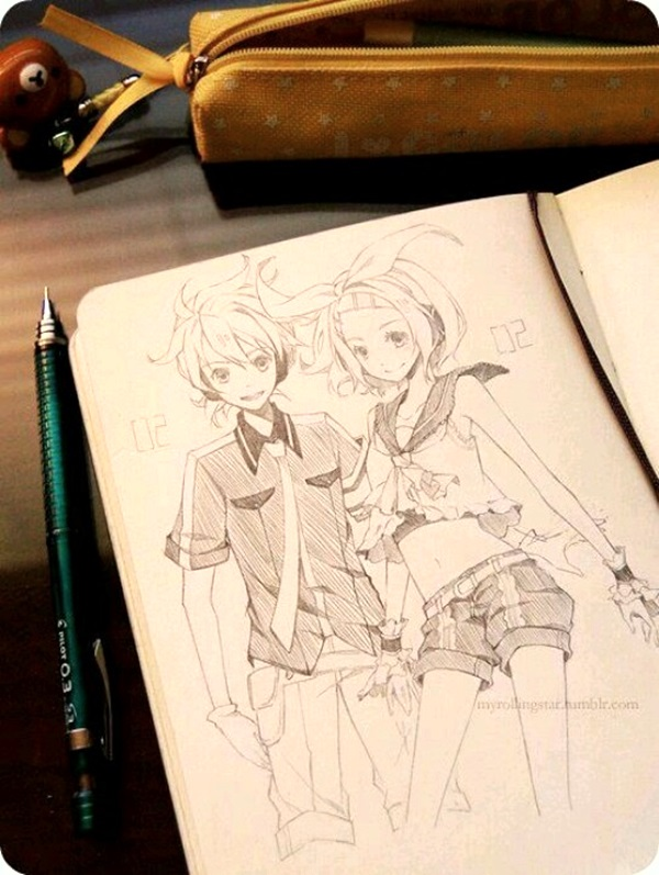 Amazing Anime Drawings And Manga Faces (6)