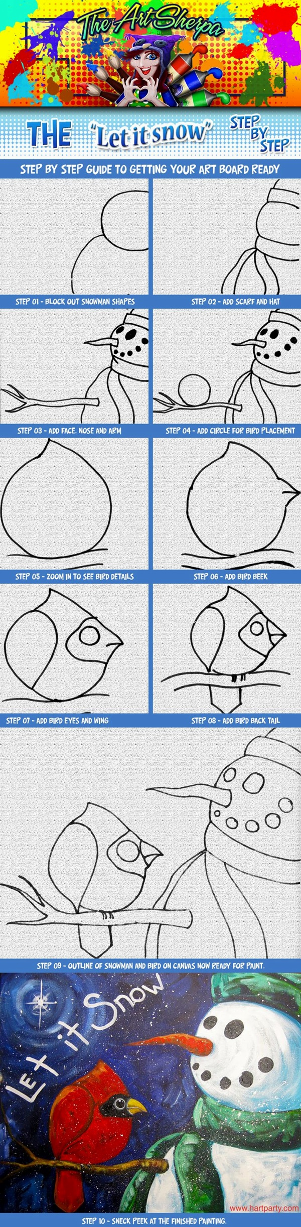 Easy Step by Step Art Drawings to Practice (20)