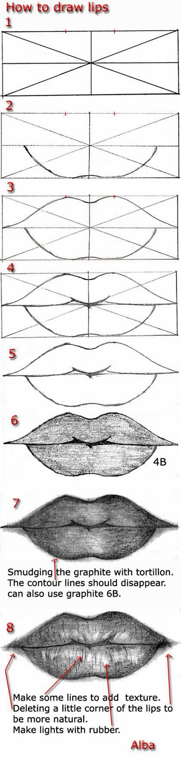Easy Step by Step Art Drawings to Practice (36)