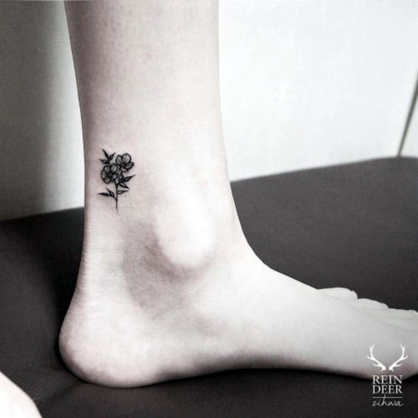Cute and Tiny Ankle Tattoo Designs For 2016 (18)