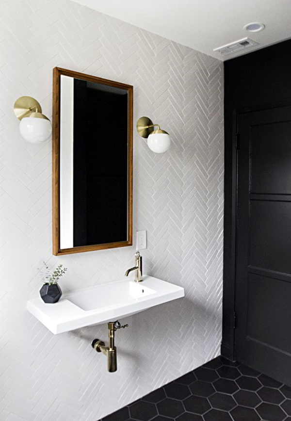 Refreshing Bathroom Mirror Designs (31)