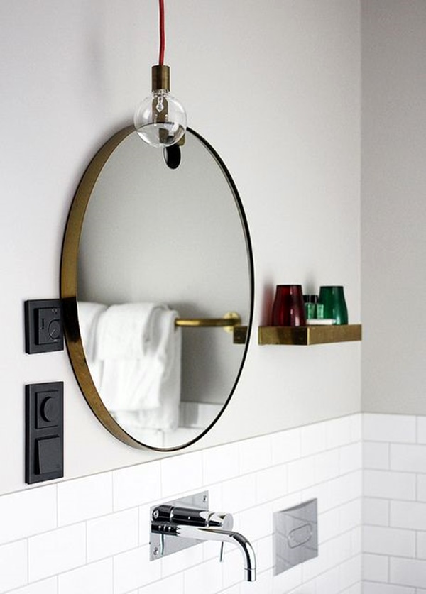 Refreshing Bathroom Mirror Designs (33)
