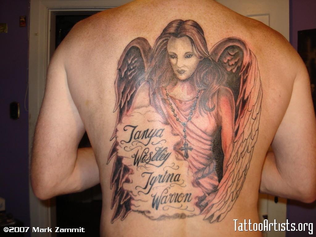 50 sexy angel tattoo designs. Black Bedroom Furniture Sets. Home Design Ideas
