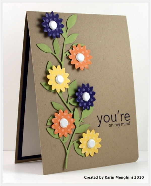 Superior Ideas For Making Birthday Cards For Friends Part - 7: 30 Cool Handmade Card Ideas For Birthday, Christmas And Other Special  Occasions