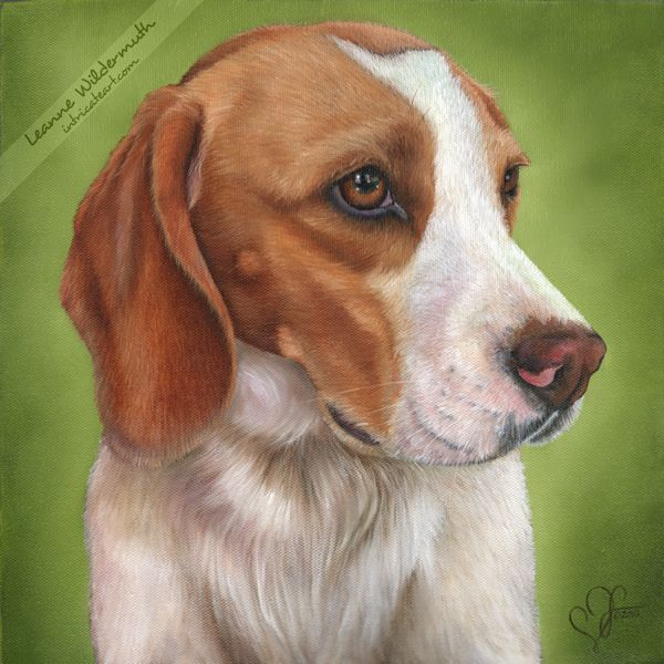 Tips on painting a dog portrait bored art for Painting of your dog