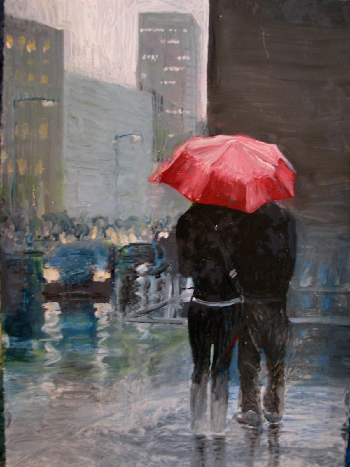 Красивые статусы про дождь и любовь