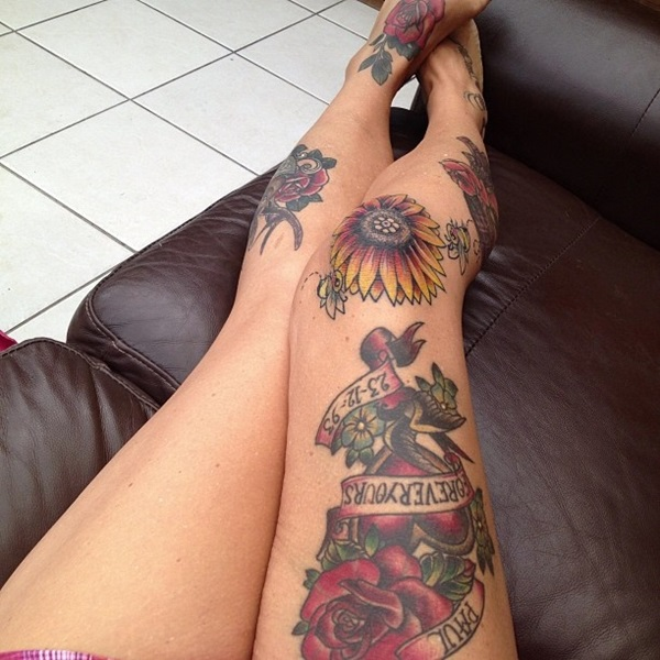 19 Knee Tattoo Designs Images And Pictures: 50 Amazing Knee Tattoo Design Ideas