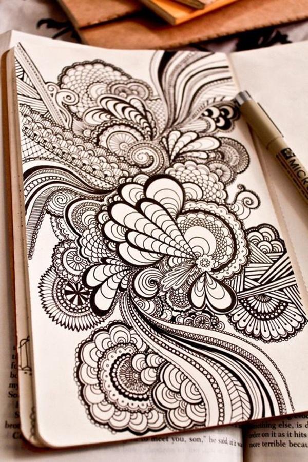 40 Beautiful Doodle Art Ideas - Bored Art