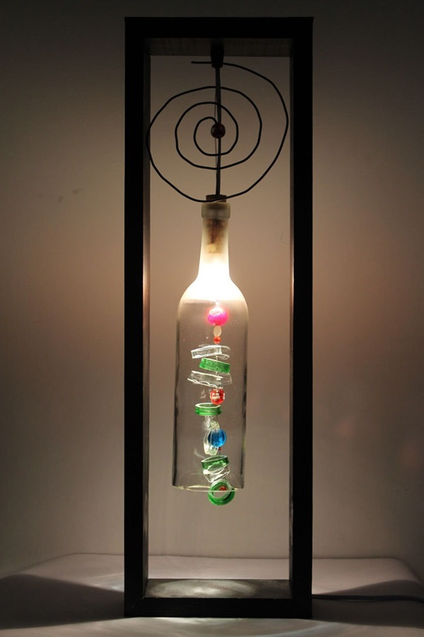 40 beautiful wine bottle lamp ideas bored art
