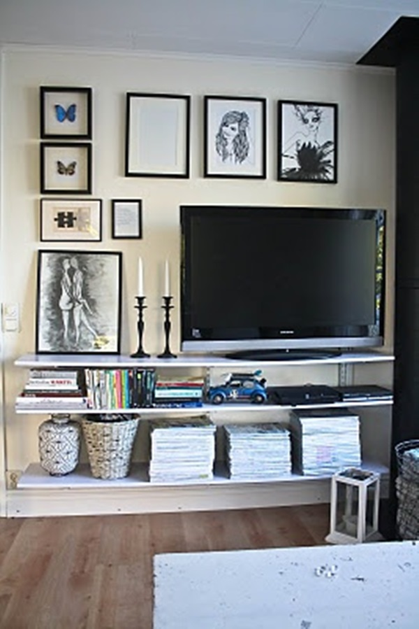 30 Ways To Decorate The TV wall - Bored Art