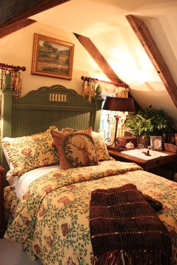 40 comfy cottage style bedroom ideas for English cottage bedroom