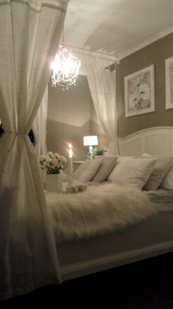 40 cute romantic bedroom ideas for couples for Simple bedroom designs for couples