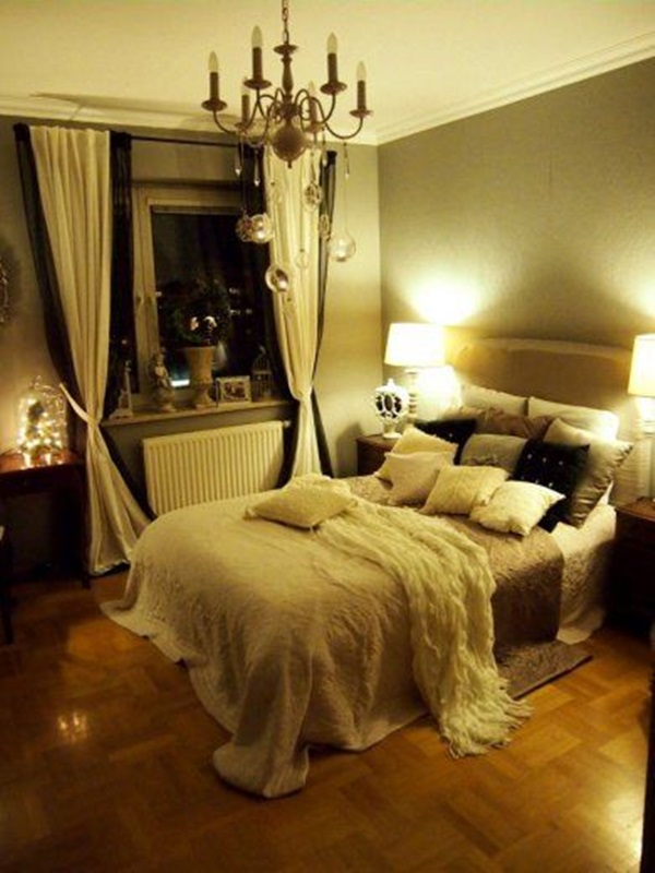 40 cute romantic bedroom ideas for couples for Romantic bedroom ideas for married couples