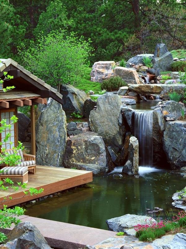 30 Elegant Backyard Pond Ideas on Elegant Backyard Ideas id=14828