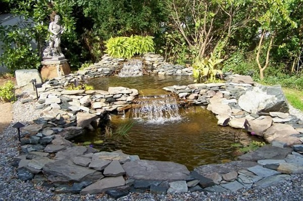 30 elegant backyard pond ideas for How to design a pond