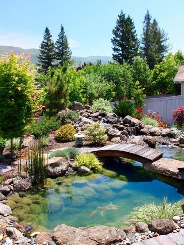 30 Elegant Backyard Pond Ideas on Elegant Backyard Ideas id=62119