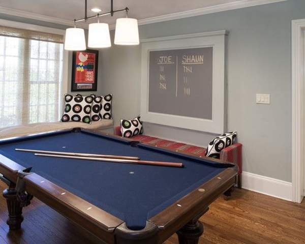 Sophisticated Living Room Decor Ideas With Modern Billiard Table