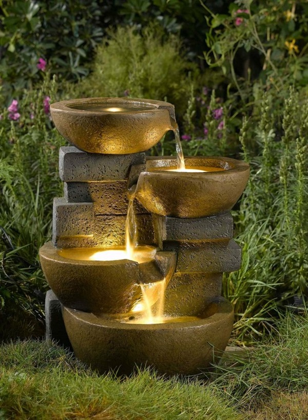 Backyard Fountain Ideas water wisdom Beautiful Garden Fountain Ideas 39