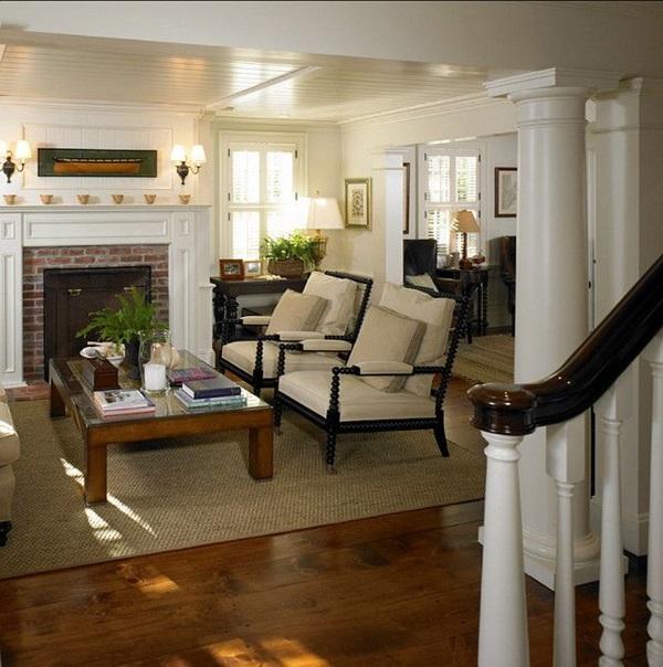 living comfortable traditional furniture coastal elegant vineyard fireplace bunch 1700s beautifully martha livingroom colonial decor interior furnishings homes soon federal
