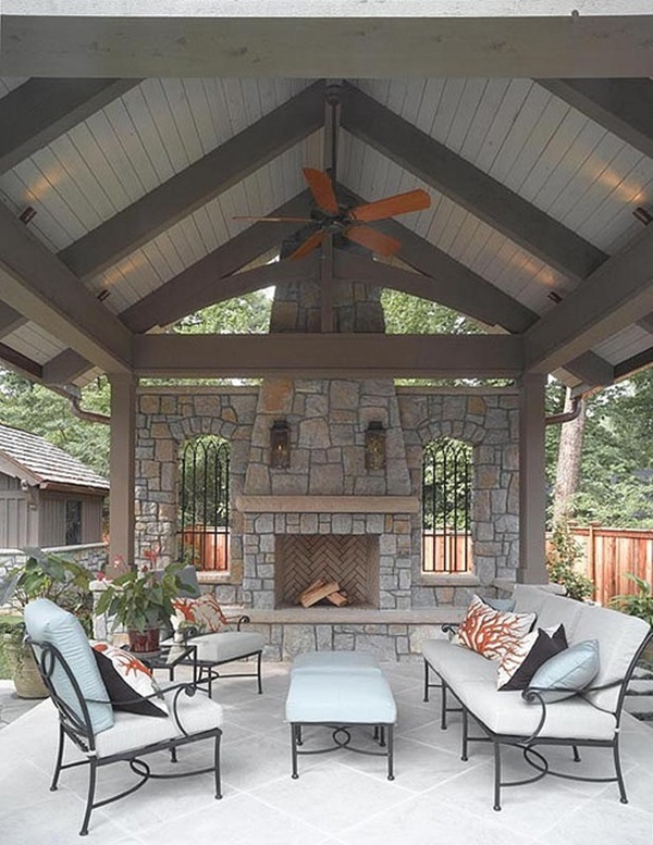 Outdoor Covered Patio With Fireplace Great Addition Idea Dream Dream Dream: 40 Cool Home Ideas For Your Dream House