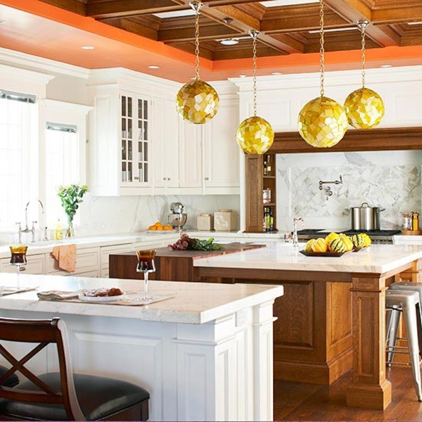 21 Impressive Cool Kitchen Island Design Ideas: 40 Impressive Improvised Ceiling Design Ideas