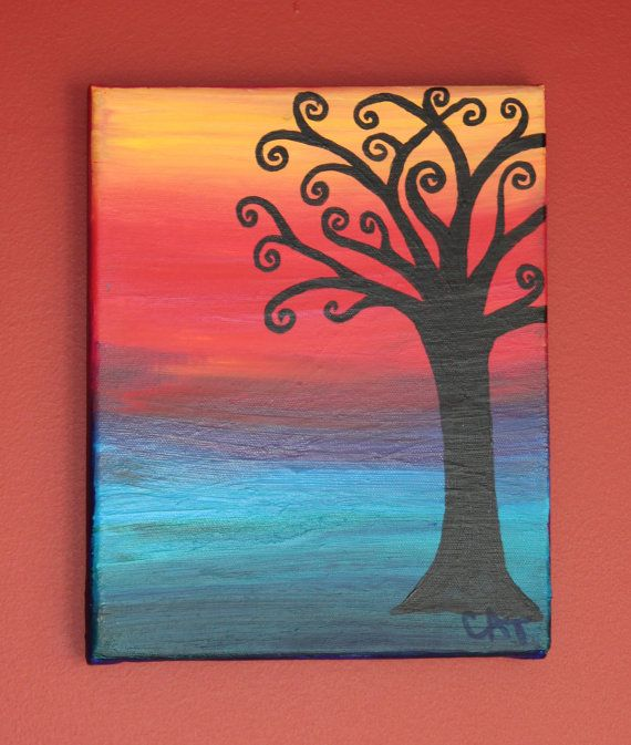 30 easy canvas painting ideas for How paint on canvas