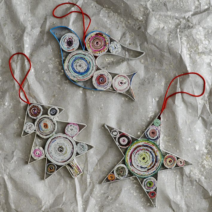 Newspaper Craft Ideas Coiled Paper Ornaments