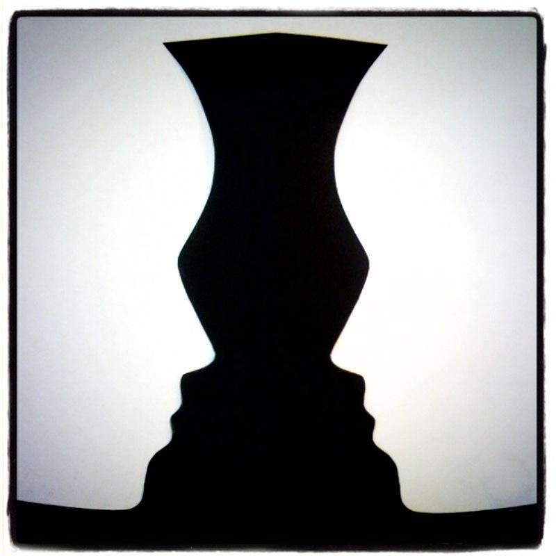 Optical Illusion Rubin Vase