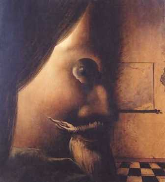 Optical Illusion Young Woman Old Man
