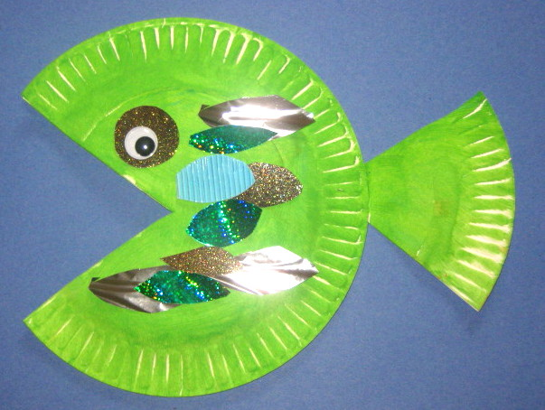 Frog Craft From Paper Plate Folded