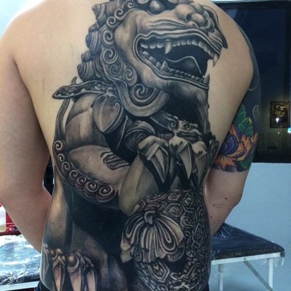 40 Foo Dog Tattoo Designs For You