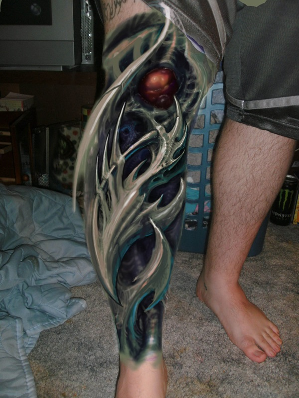 Scattershot 3d crack tattoo