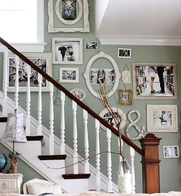 Genial Must Try Stair Wall Decoration Ideas (12)