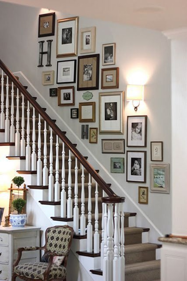 40 must try stair wall decoration ideas rh boredart com wall art stickers staircase metal wall art for staircase