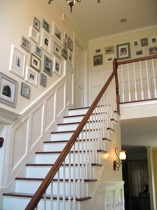 Incroyable Must Try Stair Wall Decoration Ideas (37)