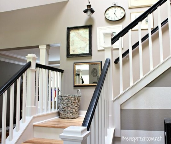 Great Must Try Stair Wall Decoration Ideas (7)
