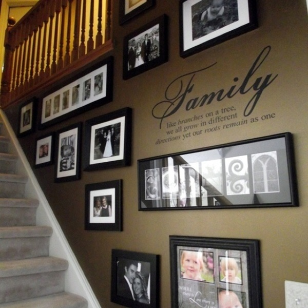 . 40 Must Try Stair Wall Decoration Ideas
