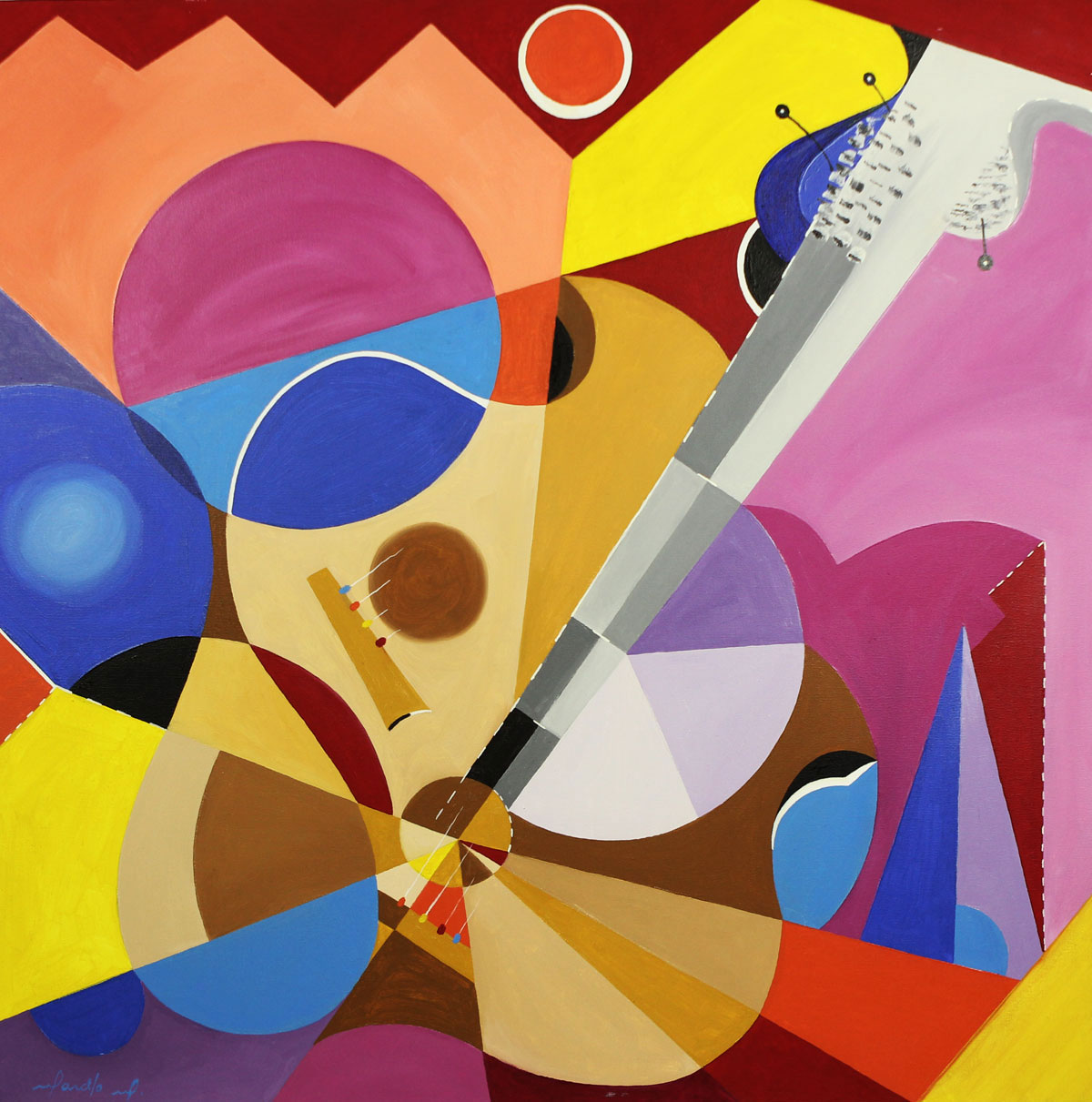 cubist style art Cubism was developed by spanish painter pablo picasso and george braque and went on to become maybe the most influential art movement of the 20th century the abstract style came out of the idea that art should not have to copy nature.